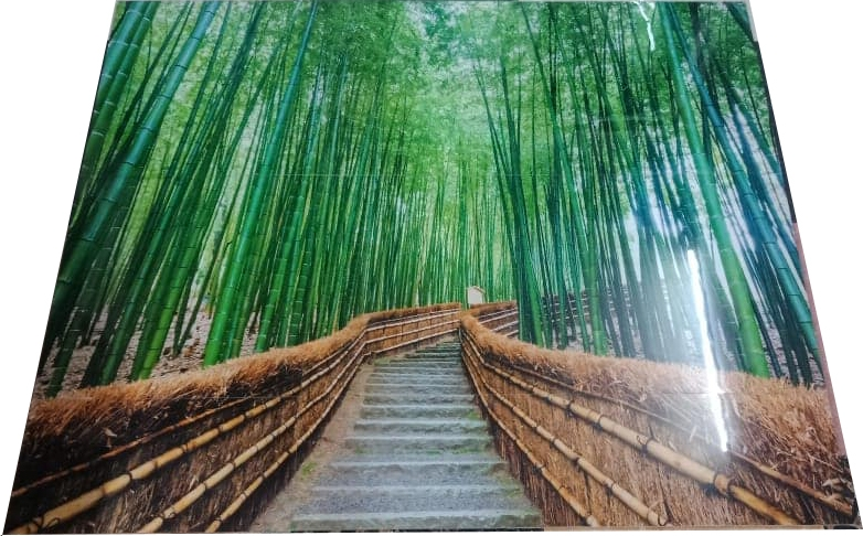 Printed Tiles Bamboo Forest Path