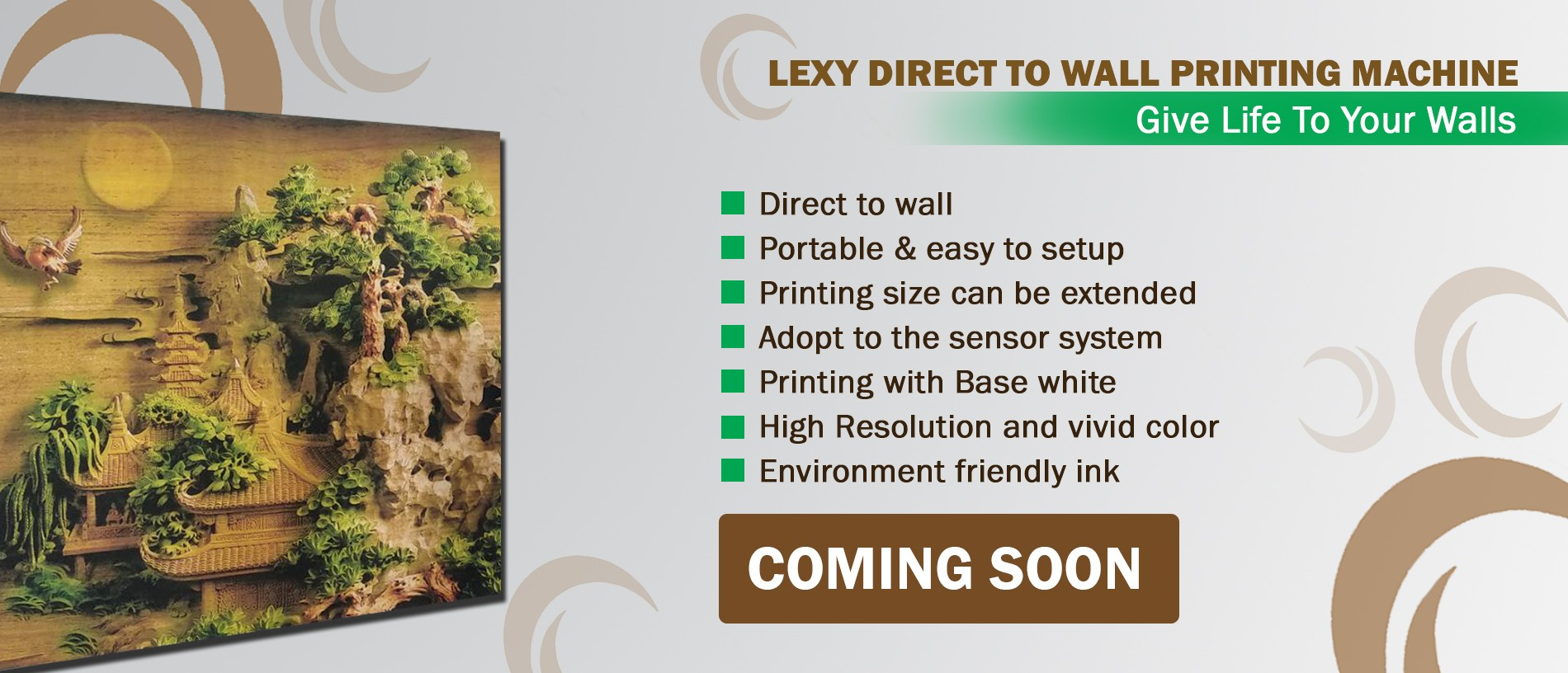 Lexy Direct Wall Printing Machine