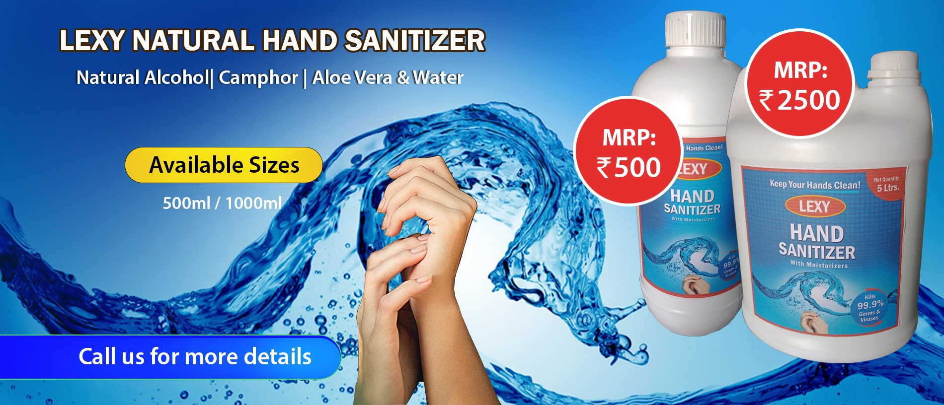 Lexy Natural Hand Sanitizer